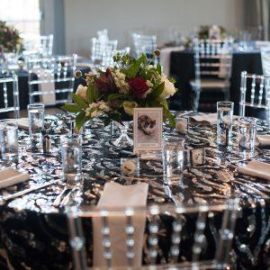 Black Cat Gala dinner table